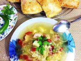 Суп с пекинской капустой