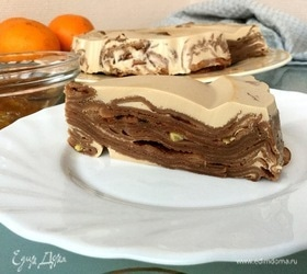 Кофейный блинный торт