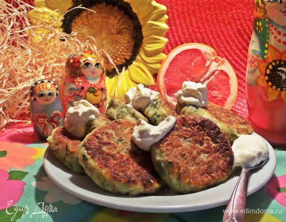 Сырники со шпинатом и кунжутом