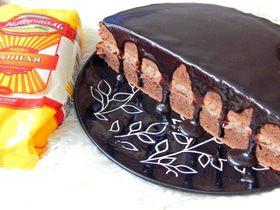 Шоколадный пирог с манным кремом