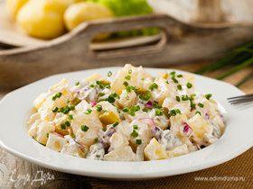 Картофельный салат с домашним майонезом