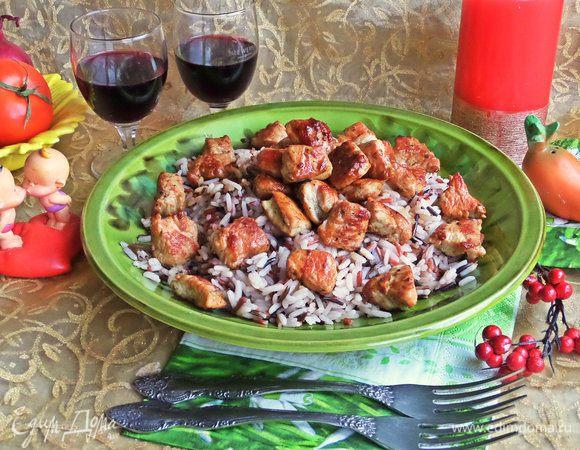 Филе индейки с рисом