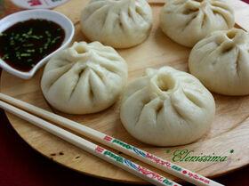 Китайские пирожки с лососем (Baozi)