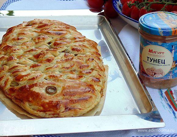 Пирог из тунца с картофелем
