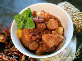 Вегетарианский чили с картофелем