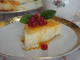 Творожно-рисовый десерт с ананасами