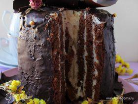 Шоколадный торт-рулет