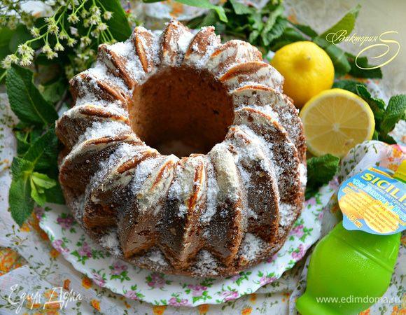 Кекс с ароматом лимона и мяты