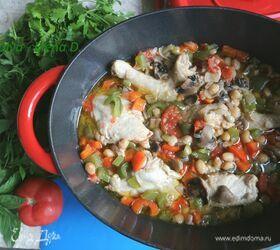 Цыплята-корнишоны в овощах