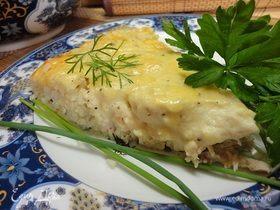 Курица, запеченная с рисом и сыром (Gratin de volaille)