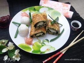 Омлет рыбный в японском стиле