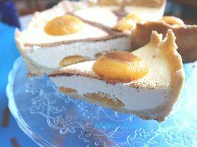Сливочный пирог с абрикосами