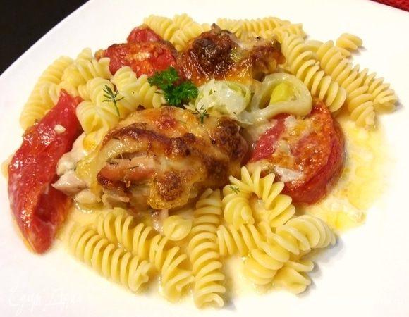 Курица с тимьяном под сливочном соусом