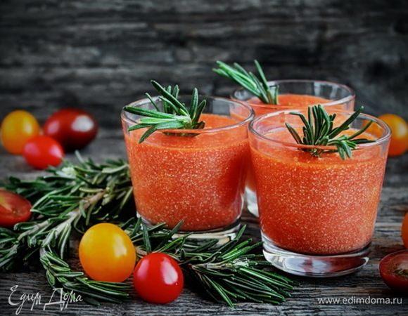 Белковый смузи с томатами и хрустящими отрубями