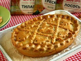 Пирог с рыбой сахалинский
