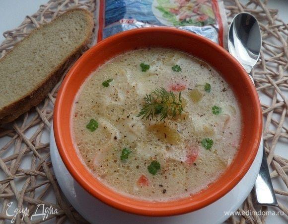 Суп с крабовым мясом
