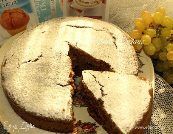 Морковный пирог с клюквой и грецкими орехами