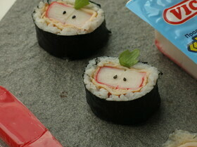 Суши «Яблоки» с крабовыми палочками