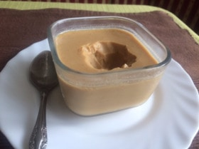 Низкокалорийное молочно-карамельное суфле
