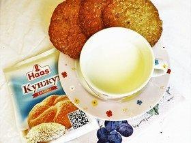 Овсяное печенье с кунжутом и вишней