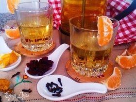 Согревающий бруснично-мандариновый чай
