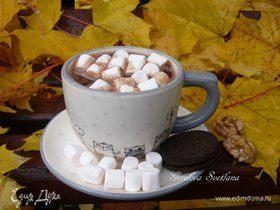 Горячий шоколад с грецкими орехами и маршмеллоу