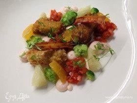 Салат с крабовым мясом в 3-х текстурах