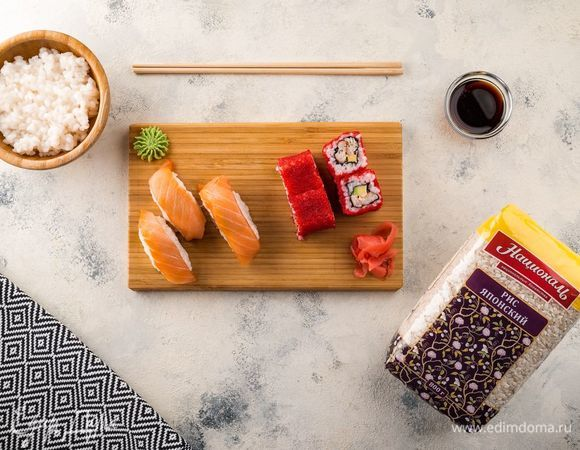 Ролл «Калифорния» и суши «Нигири»