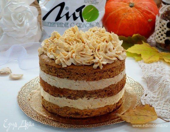 Творожный торт с отрубями без сахара