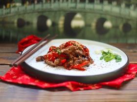 Стирфрай из говядины с перцем в горчичном соусе