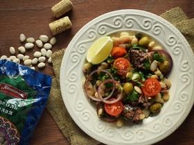 Итальянский салат из фасоли