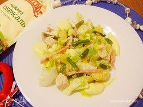 Салат c курицей и ананасами