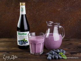 Молочный коктейль с черничным нектаром