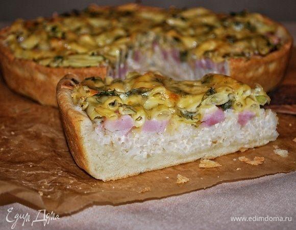 Пирог с ветчиной и стручковой фасолью