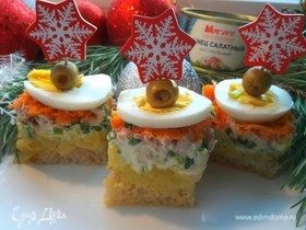 Салат-канапе «Мимоза» с тунцом