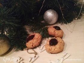 Новогоднее печенье с арахисом