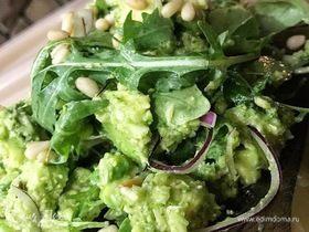 Итальянский салат из руколы и авокадо