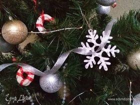 Сладкие украшения на елку