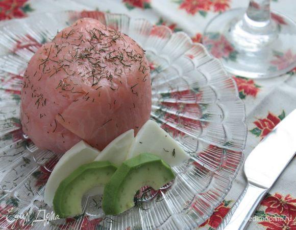 Закуска из риса с лососем и авокадо
