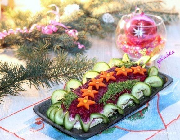 Слоеный салат «Звездный»