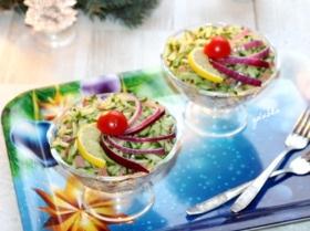 Салат из кеты с овощами