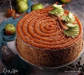 Яблочный торт с баварским муссом