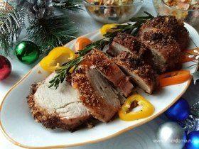 Запеченное мясо с хрустящей хлебной корочкой
