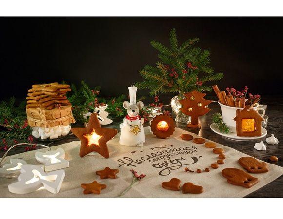 Корично-гвоздичное печенье с леденцовыми «окошками»