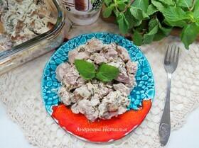 Филе индейки, маринованное в йогурте с мятой