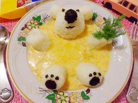Фрикасе из курицы с рисовым медвежонком