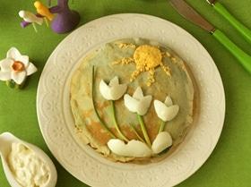 Блинный торт шпинатный «Встречаем весну»