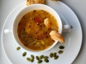 Легкий суп с креветками «Солнечное настроение»