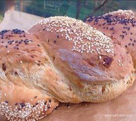 Хлеб с инжиром и семечками
