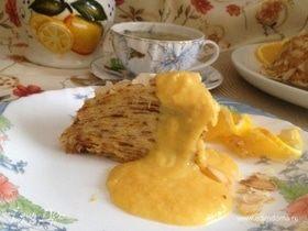 Блинный тортик с кремом из апельсинов и сгущенки